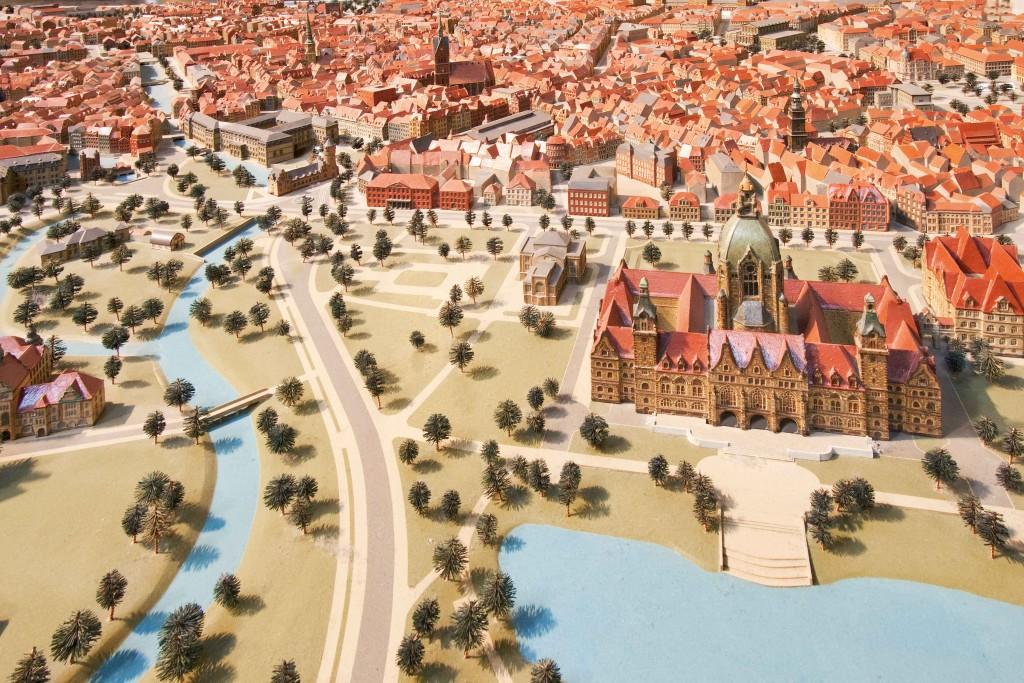 Stadtmodell 1945