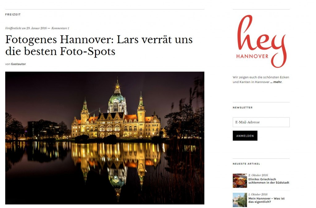 Gastautor bei Hey Hannover
