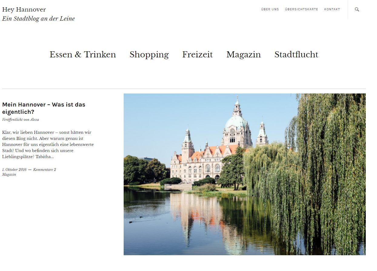 Hey Hannover Website