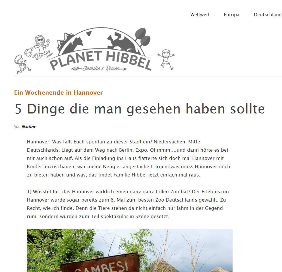 Planet Hibbel Website