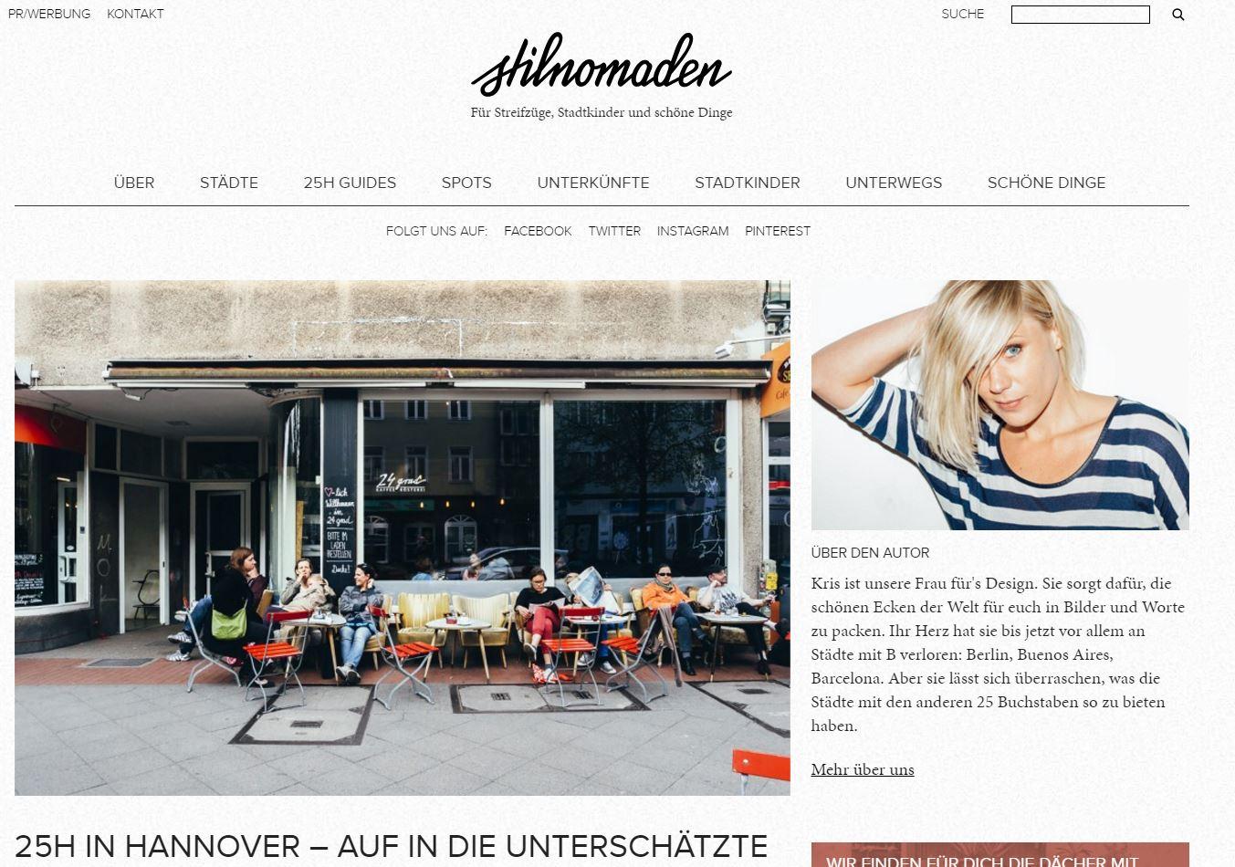 Stilnomaden Website