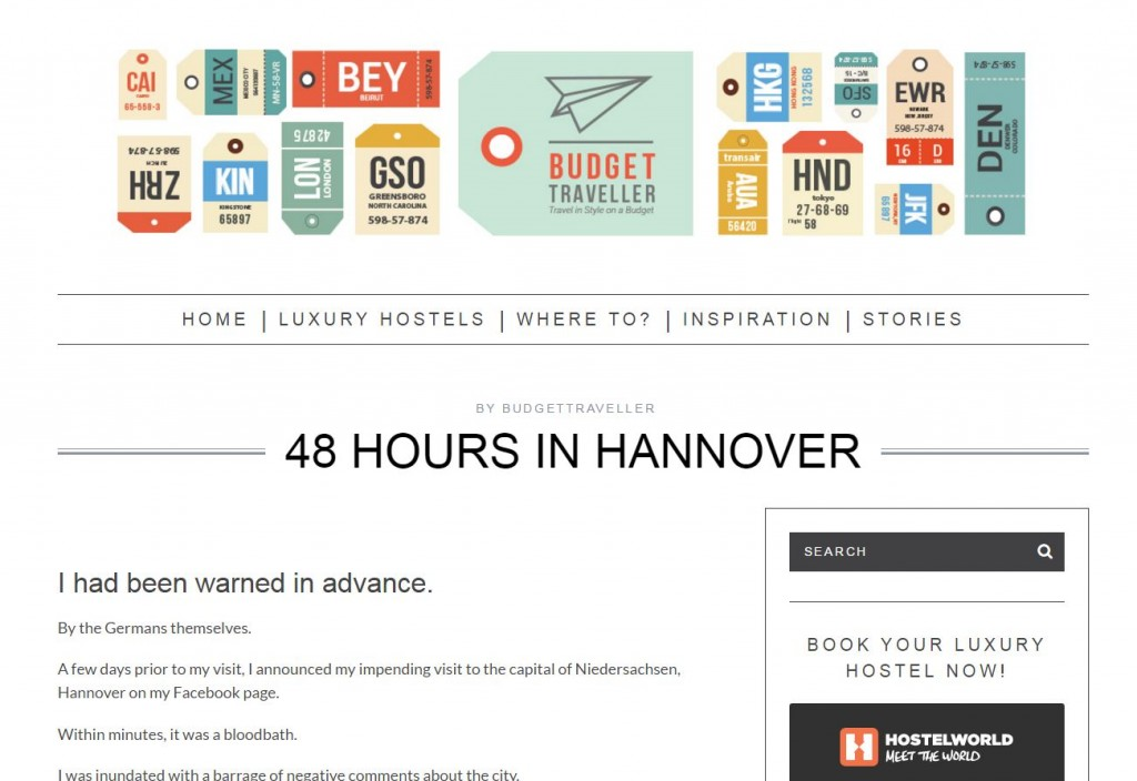 Bugettraveller Website