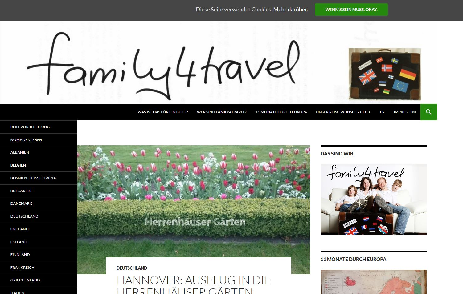family4travel Website