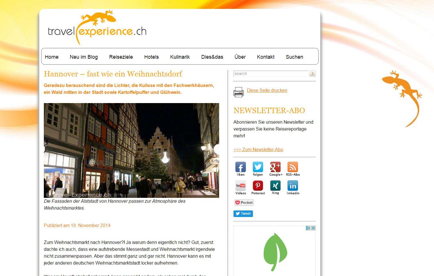 Travelexperience Website