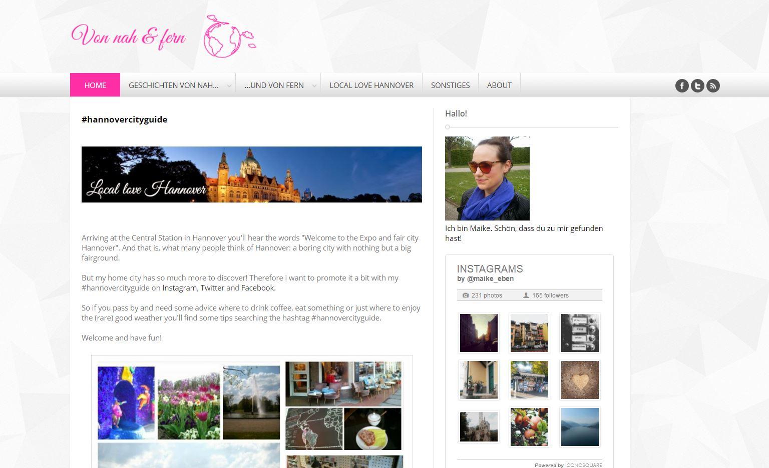 Von nah & fern Website