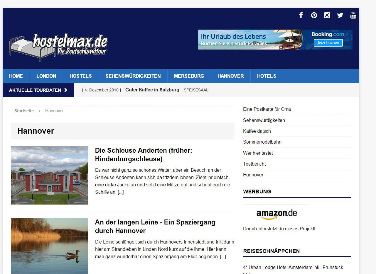 Hostelmax Website