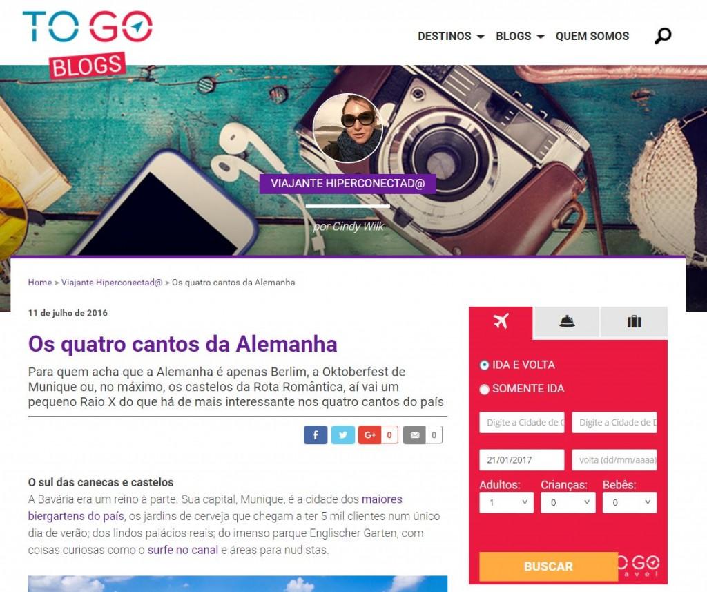 To Go Blogs Website