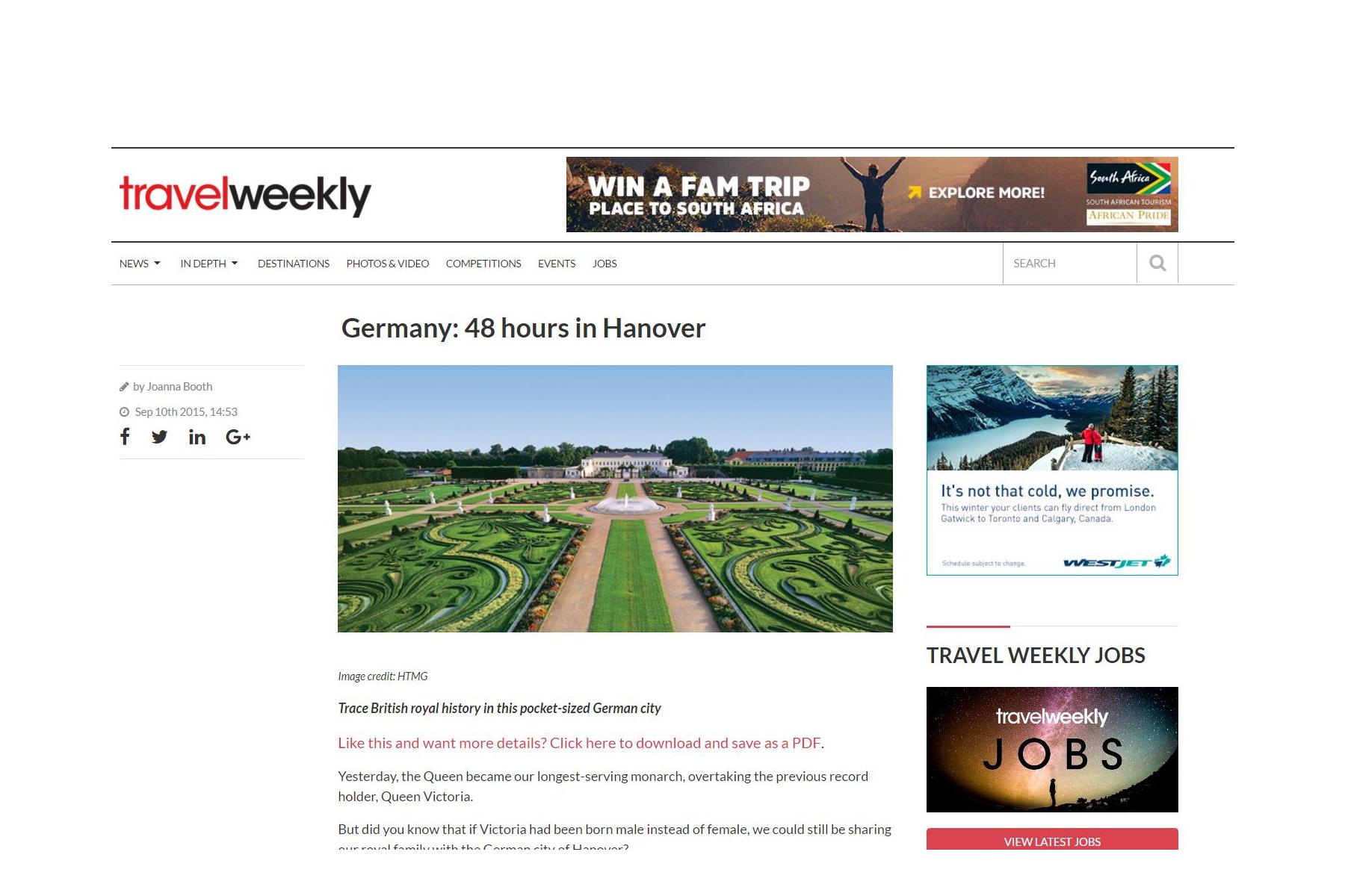 Travelweekly Website
