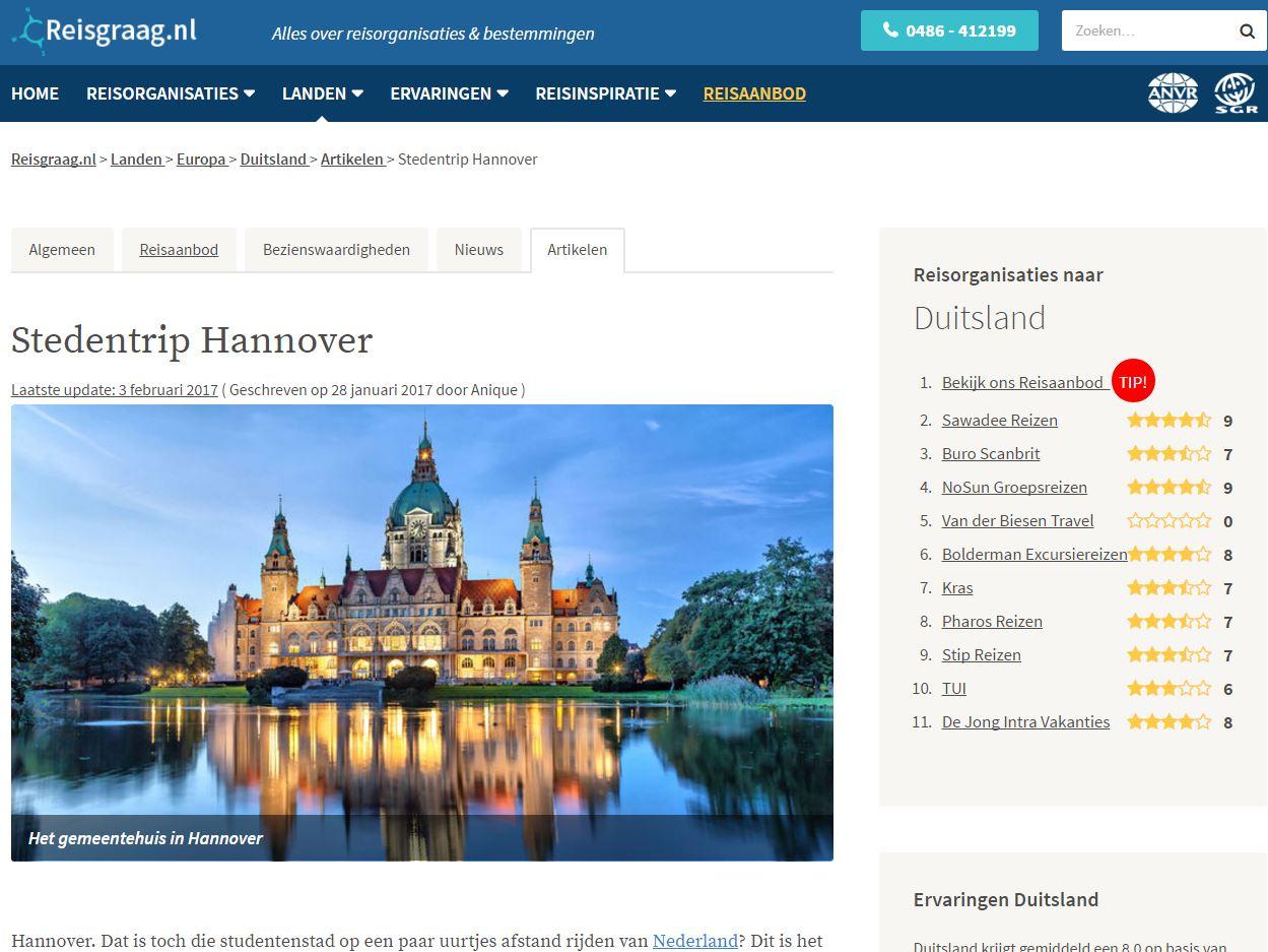 Stedentrip Hannover